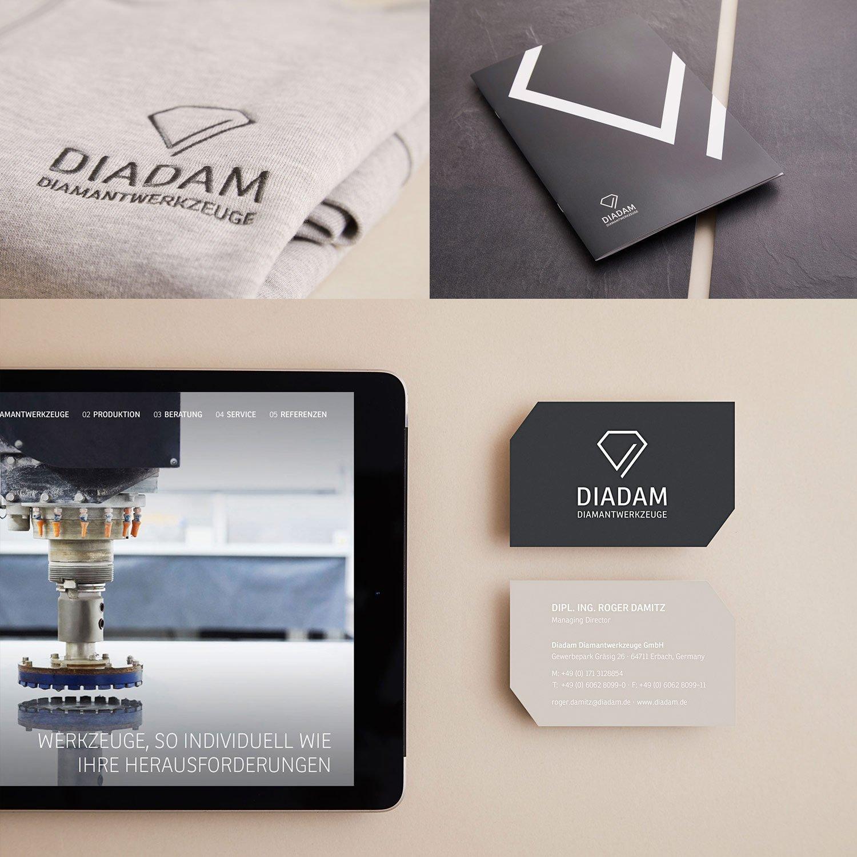 Collage - Diadam Corporate Design und Webdesign