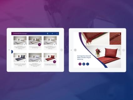 UI-Design App - Übersicht Produkte - Spalt Corporate Design