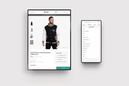 Produkt und Navigation - Nastrovje Potsdam E-Commerce Plentymarkets
