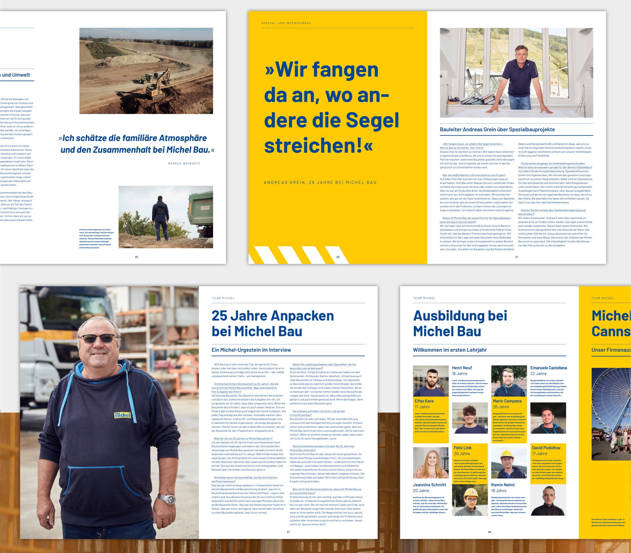 Michel Magazin Editorial Design Innenseiten