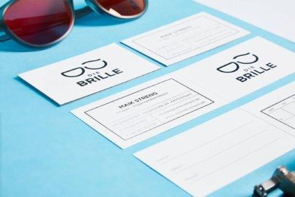 Design Visitenkarte und Brillenpass