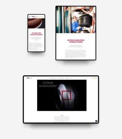 Responsive-Webdesign für LY-Holding