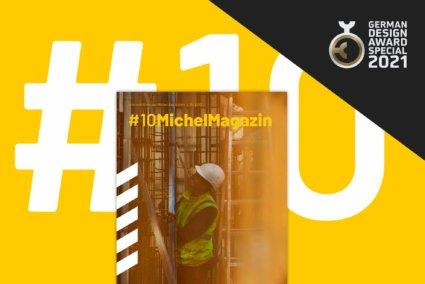 Magazindesign Miche Bau - B2B Branding und German Design Award 2021